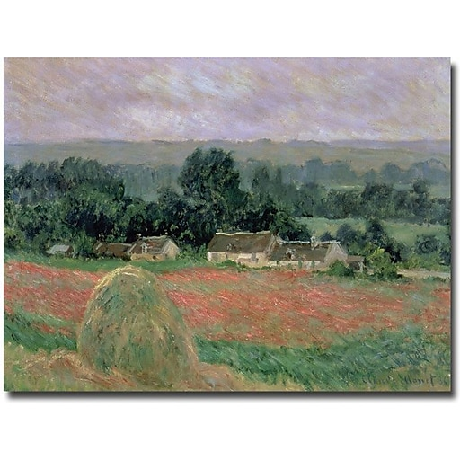 "Trademark Global Claude Monet ""Haystack at Giverny, 1886"" Canvas Art, 35"" x 47"""