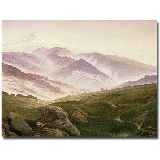 "Trademark Global Caspar David Friedrich ""The Mountains of the Giants, 1839"" Canvas Art, 18"" x 24"""