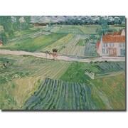 "Trademark Global Vincent Van Gogh ""Avuvers after the Rain, 1890"" Canvas Art, 18"" x 24"""