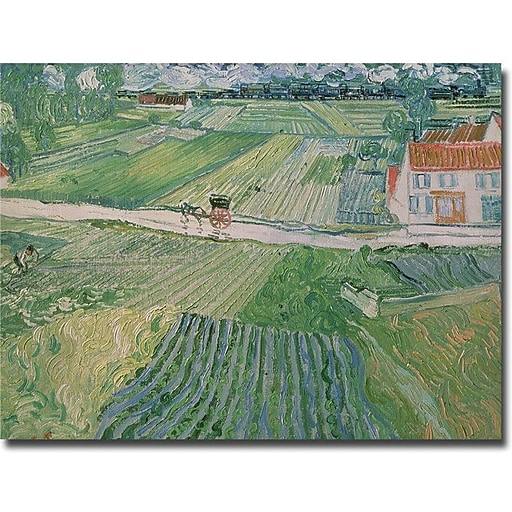 "Trademark Global Vincent Van Gogh ""Avuvers after the Rain, 1890"" Canvas Art, 24"" x 32"""