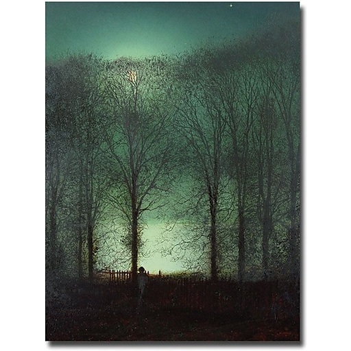 "Trademark Global John Atkinson Grimshaw ""Figure in the Moonlight"" Canvas Art, 32"" x 26"""