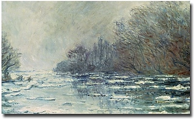 "Trademark Global Claude Monet ""The Break up at Vetheuil, 1883"" Canvas Art, 16"" x 24"""