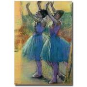 "Trademark Global Edgar Degas ""Two Blue Dancers"" Canvas Art, 47"" x 30"""