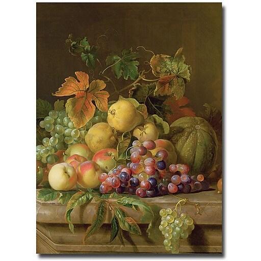 """Trademark Global Jacob Bogdany """"A Fruit Still Life"""" Canvas Art, 47"""" x 35"""""""