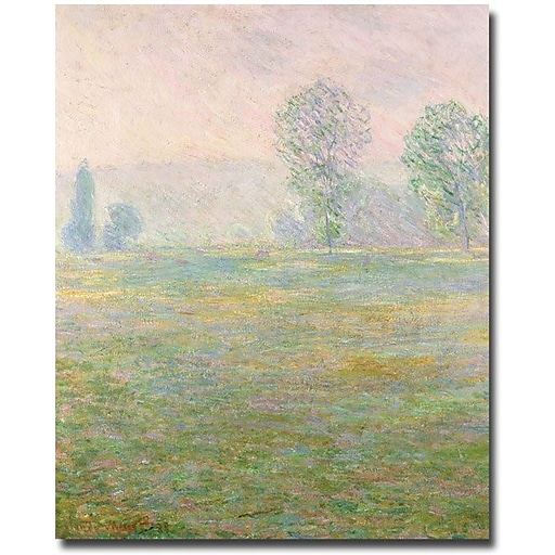 "Trademark Global Claude Monet ""Meadows in Giverny, 1885"" Canvas Art, 47"" x 35"""