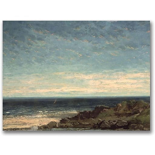 """Trademark Global Gustave Courbet """"The Sea"""" Canvas Art, 18"""" x 24"""""""