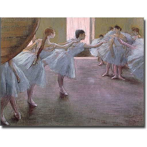 "Trademark Global Edgar Degas ""Dancers at Rehearsal, 1875 77"" Canvas Art, 35"" x 47"""
