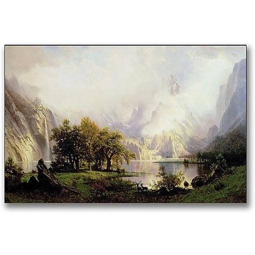 """Trademark Global Albert Biersdant """"Rocky Mountian Landscape, 1870"""" Canvas Art, 16"""" x 24"""""""
