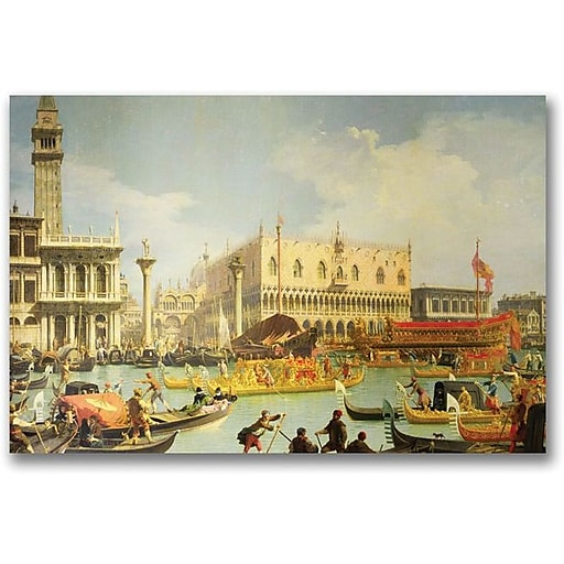 "Trademark Global Canaletto ""The Betrothal of the Venetian Doge"" Canvas Art, 16"" x 24"""