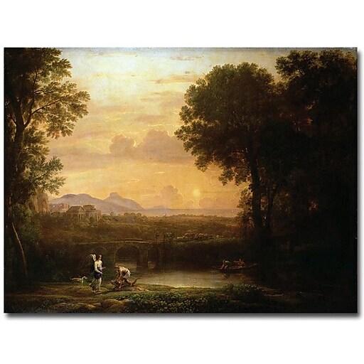"Trademark Global Claude Lorrain ""Landscape at Dusk"" Canvas Art, 24"" x 32"""