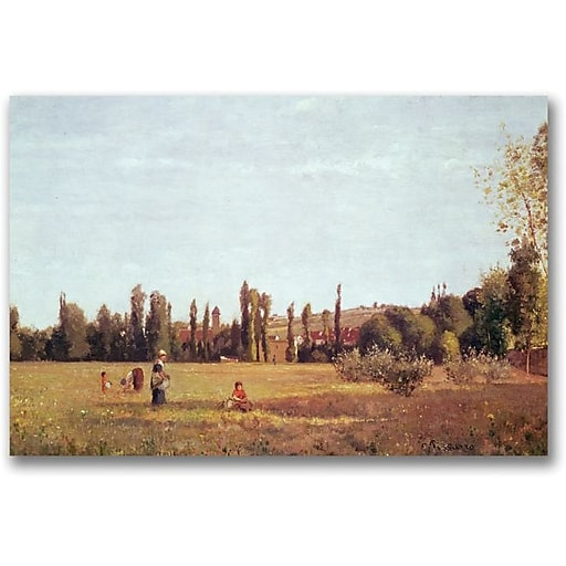"Trademark Global Camille Pissarro ""La Varenne de St. Hilaire, 1863"" Canvas Art, 16"" x 24"""