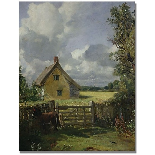 "Trademark Global John Constable ""Cottage in a Cornfield"" Canvas Art, 32"" x 26"""