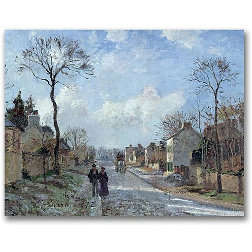 """Trademark Global Camille Pissarro """"The Road to Louveciennes"""" Canvas Art, 35"""" x 47"""""""