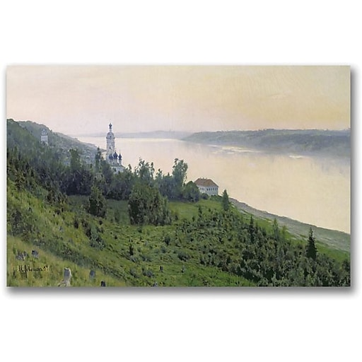 "Trademark Global Isaac Levitan ""Cold Landscape"" Canvas Art, 30"" x 47"""