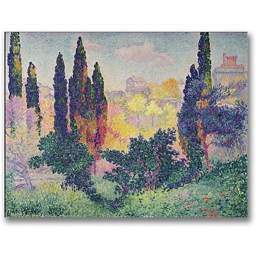 "Trademark Global Henri Edmond Cross ""The Cypresses at Cagnes"" Canvas Art, 18"" x 24"""