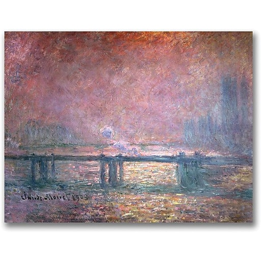 "Trademark Global Claude Monet ""The Thames at Charing Cross"" Canvas Art, 24"" x 32"""