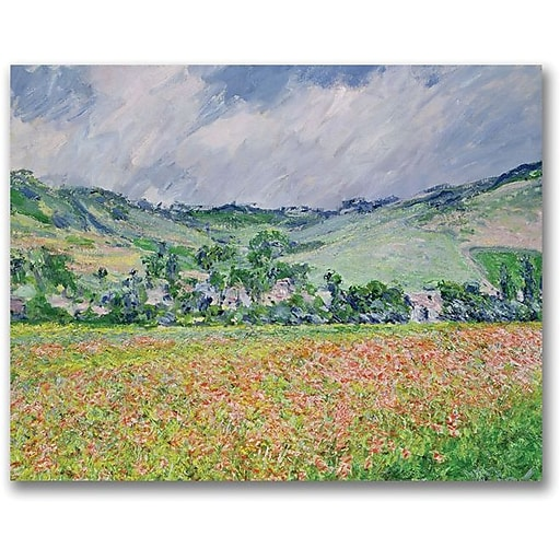 "Trademark Global Claude Monet ""The Poppy Field near Giverny"" Canvas Art, 26"" x 32"""
