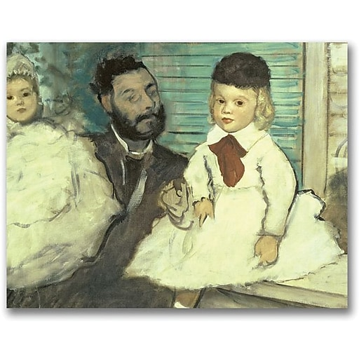 "Trademark Global Edgar Degas ""Comte Le Pic and his Sons"" Canvas Art, 26"" x 32"""