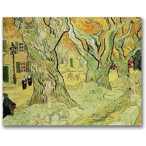 "Trademark Global Vincent Van Gogh ""The Road Menders, 1889"" Canvas Art, 26"" x 32"""