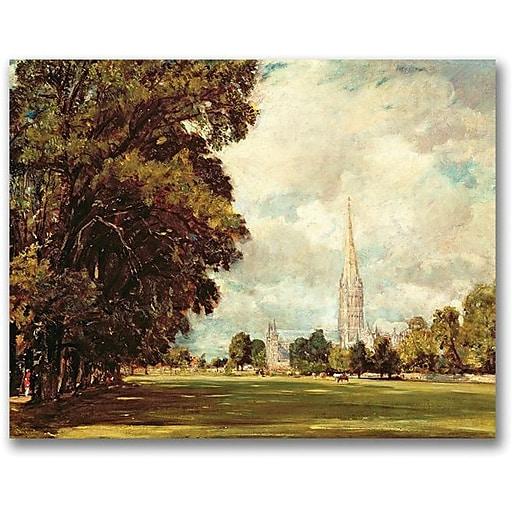 "Trademark Global John Constable ""Salisbury Cathedral"" Canvas Art, 18"" x 24"""