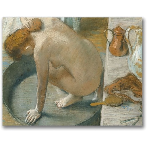 "Trademark Global Edgar Degas ""The Tub, 1886"" Canvas Art, 24"" x 32"""