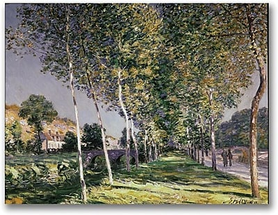"""Trademark Global Alfred Sisley """"The Walk"""" Canvas Art, 18"""" x 24"""""""