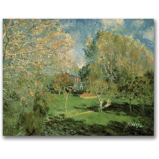 """Trademark Global Alfred Sisley """"The Garden of Hoschede Family"""" Canvas Art, 18"""" x 24"""""""
