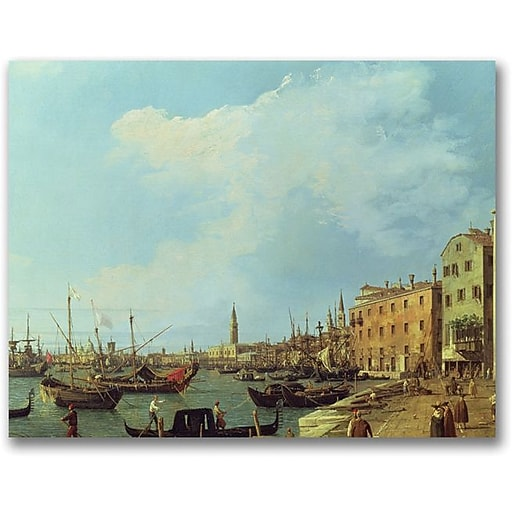 "Trademark Global Canaletto ""The Riva Degli Schiavoni"" Canvas Art, 24"" x 32"""