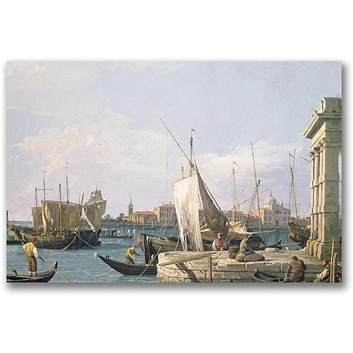 """Trademark Global Canaletto """"The Punta Della Dogana"""" Canvas Art, 18"""" x 24"""""""