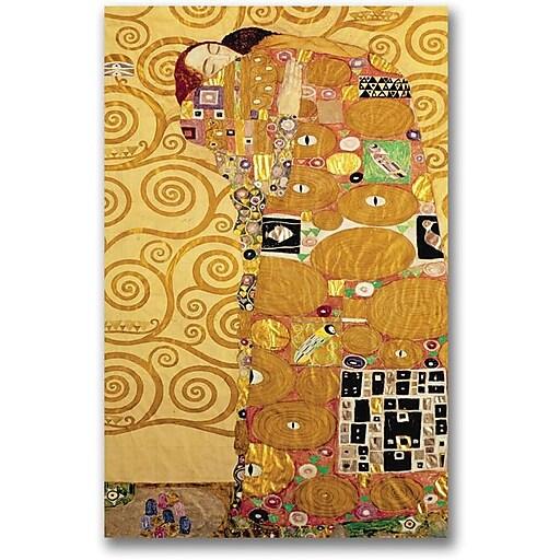 "Trademark Global Gustav Klimt ""Fulfillment"" Canvas Art, 30"" x 47"""