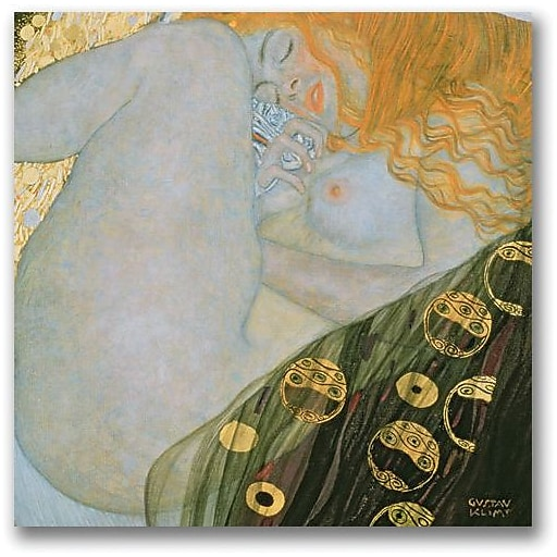 "Trademark Global Gustave Klimt ""Danae 1907 08"" Canvas Art, 24"" x 24"""