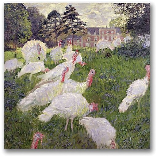 """Trademark Global Claude Monet """"The Turkeys at the Chateau"""" Canvas Art, 24"""" x 24"""""""