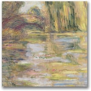 "Trademark Global Claude Monet ""Waterlily Pond The Bridge"" Canvas Art, 18"" x 18"""