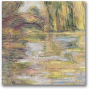 "Trademark Global Claude Monet ""Waterlily Pond The Bridge"" Canvas Art, 24"" x 24"""
