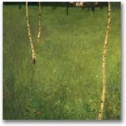 "Trademark Global Gustav Klimt ""Farmhouse with Birch Trees"" Canvas Art, 18"" x 18"""