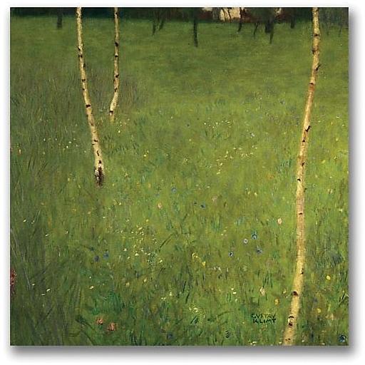 "Trademark Global Gustav Klimt ""Farmhouse with Birch Trees"" Canvas Art, 24"" x 24"""