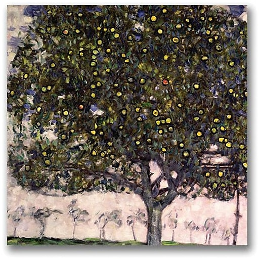 "Trademark Global Gustav Klimt ""The Apple Tree"" Canvas Art, 18"" x 18"""