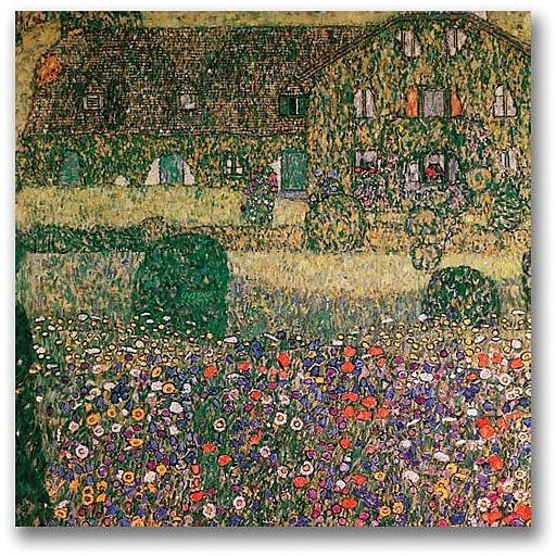 "Trademark Global Gustav Klimt ""Country House"" Canvas Art, 18"" x 18"""