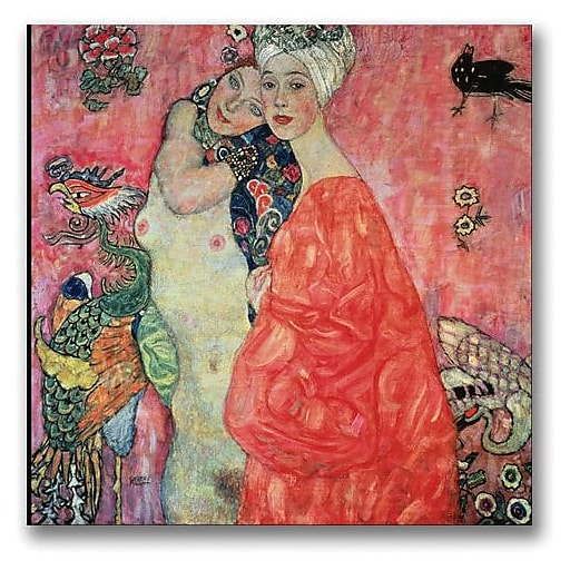 "Trademark Global Gustav Klimt ""Woman Friends"" Canvas Art, 24"" x 24"""
