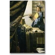 """Trademark Global Jan Vermeer """"The ist's Studio"""" Canvas Art, 24"""" x 16"""""""