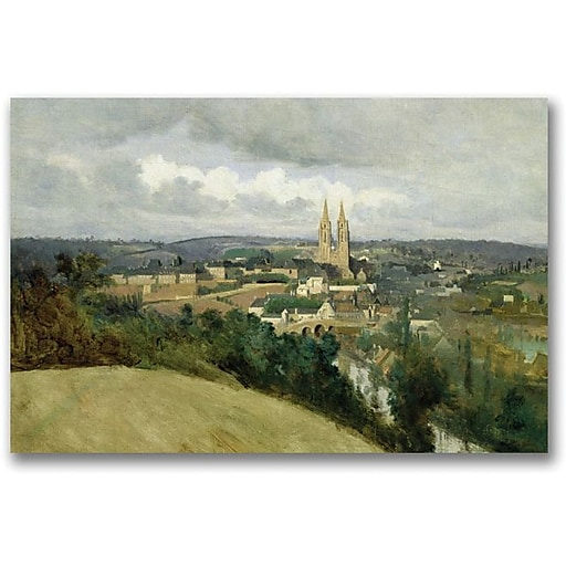 "Trademark Global Jean Baptiste Corot ""General Veiw of the Town"" Canvas Art, 35"" x 47"""