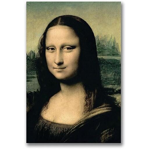 "Trademark Global Leonardo da Vinci ""Detail of the Mona Lisa"" Canvas Art, 24"" x 16"""