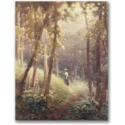 "Trademark Global John Faraquharson ""A Woodland Glade"" Canvas Art, 32"" x 26"""