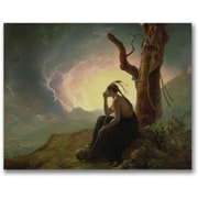 "Trademark Global Joseph Wright of Derby ""Widow of an Indian Chief"" Canvas Art, 35"" x 47"""
