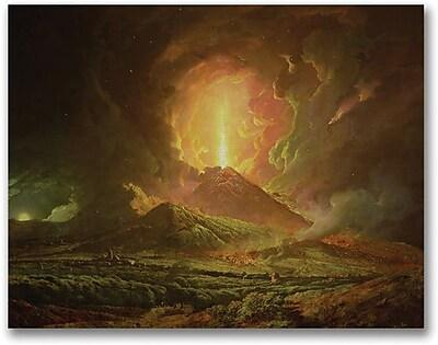 "Trademark Global Joseph Wright of Derby ""Eruption of Vesuvius"" Canvas Art, 35"" x 47"""