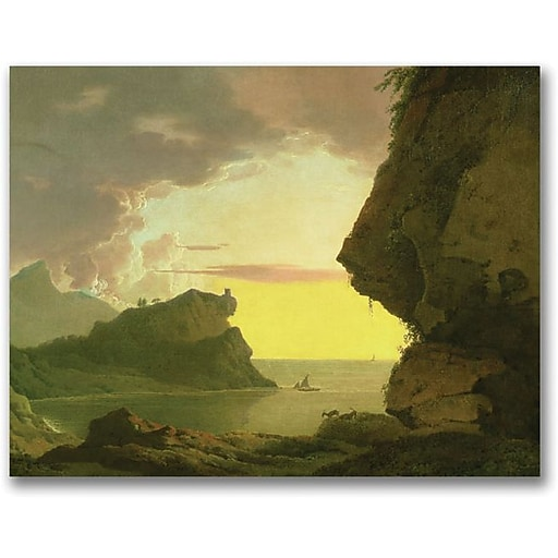 "Trademark Global Joseph Wright of Derby ""Sunset of the Coast"" Canvas Art, 18"" x 24"""