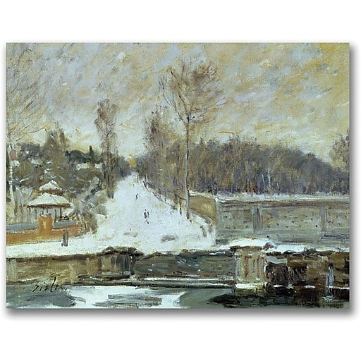 "Trademark Global Alfred Sisley ""The Watering Place"" Canvas Art, 18"" x 24"""