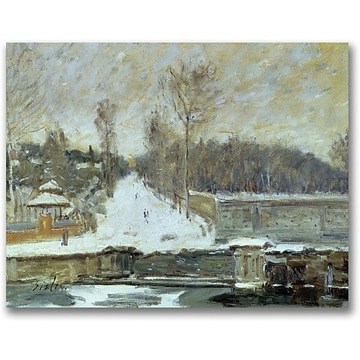"""Trademark Global Alfred Sisley """"The Watering Place"""" Canvas Art, 35"""" x 47"""""""
