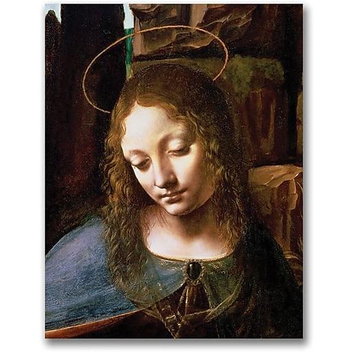 "Trademark Global Leonardo da Vinci ""Detail of the Virgin"" Canvas Art, 47"" x 35"""