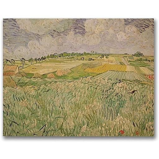 "Trademark Global Vincent Van Gogh ""The Plains of Auvers"" Canvas Art, 18"" x 24"""
